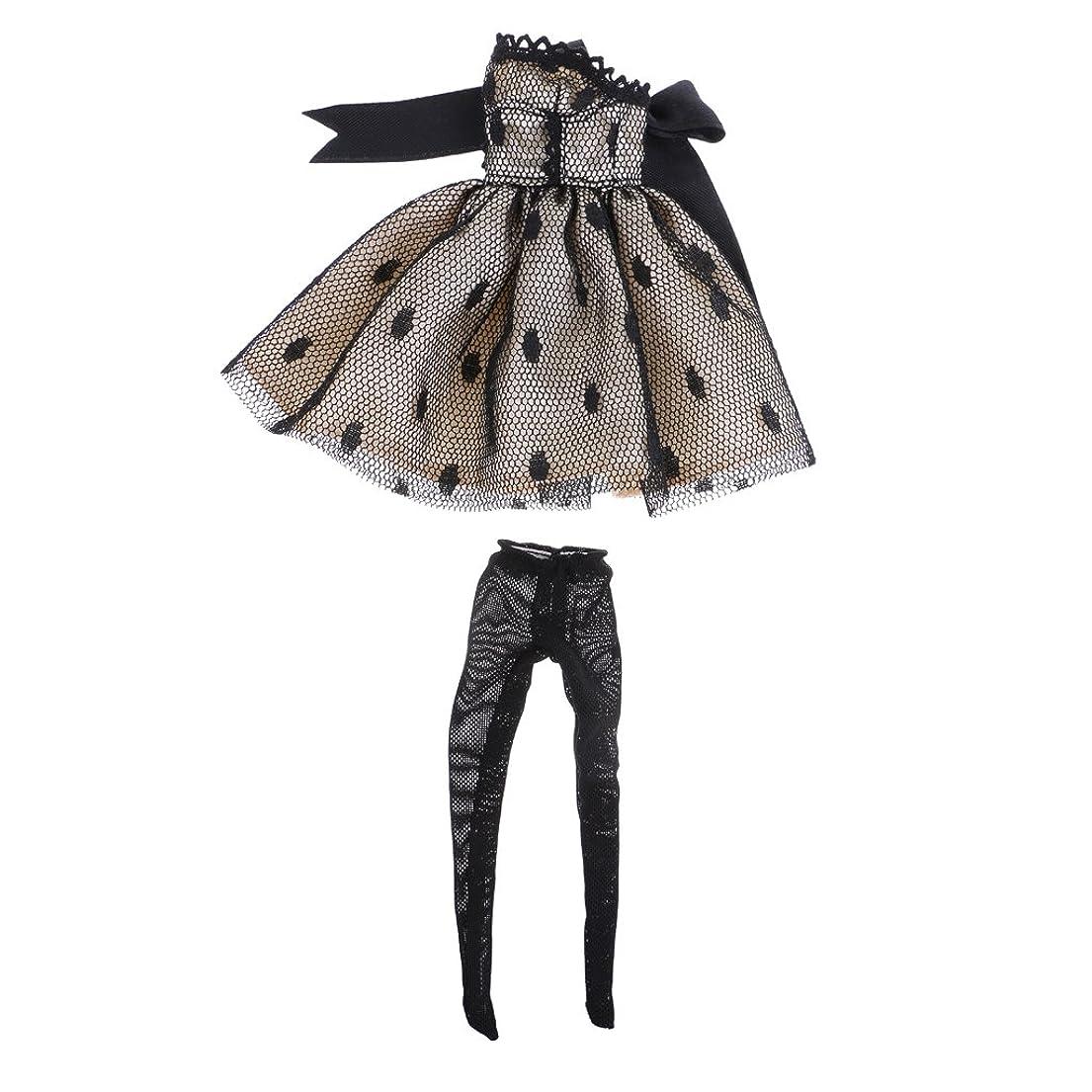 冊子周り勧めるレーススカート ちょう結びドレス レギンス 布製 1/6ブライスドール人形のため アクセサリー