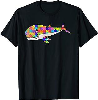 Baleine Jigsaw Puzzle autisme hommes cadeaux poissons femmes T-Shirt