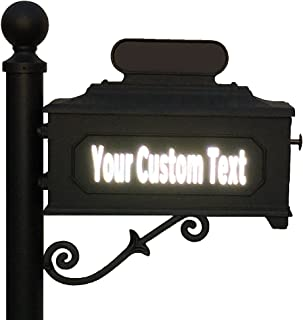customTAYLOR33 High Intensity Reflective Custom Mailbox Letters Numbers - Houses, Apartments, Condos, Businesses (2 inch Font Height, 2 Rows of Text)