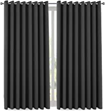 Thermal Insulated Blackout Patio Door Drapery, Noise Reducing Performance Grommet Slider Curtain Panel, Room Divider Curtains 84 Inch Length (1 Panel, 7' Tall by 8.5' Wide, Charcoal Gray)