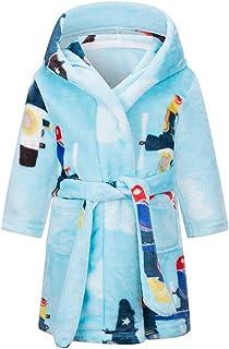 Albornoz Niños con Capucha camisón Toalla de baño Pijamas Baño Robe Cómoda Ropa de Dormir Linda Bata de baño