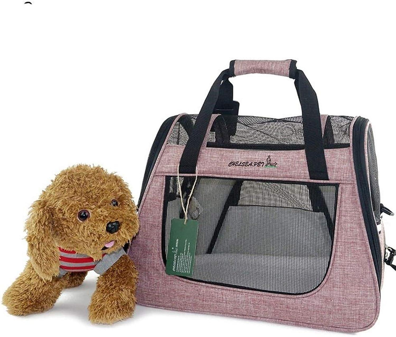 RedGoodThings Nylon Cloth Travel Portable Pet Cat Bag Visible Pet Bag Dog Backpack (color   2, Size   45  34  25cm)