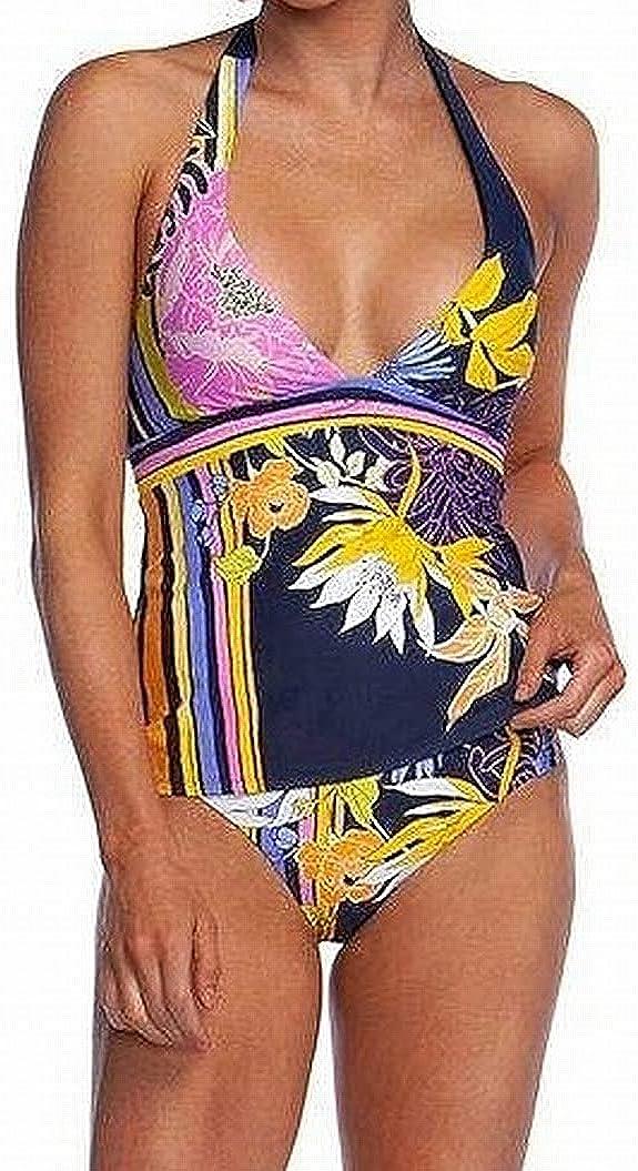 Trina Turk Women's V-Neck Halter Tankini Swimsuit Top