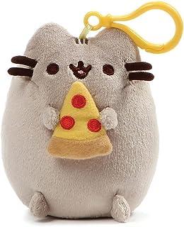 "GUND Pusheen Snackable Pizza Cat Plush Stuffed Animal Backpack Clip, Gray, 5"""