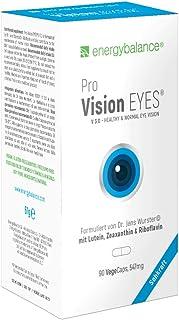 EnergyBalance Pro Vision EYES 90 Capsules à 547mg | Vista | Vegano | alta biodisponibilidad | Sin aditivos | Con vitamina A. vitamina C. zinc. riboflavina | Calidad Suiza
