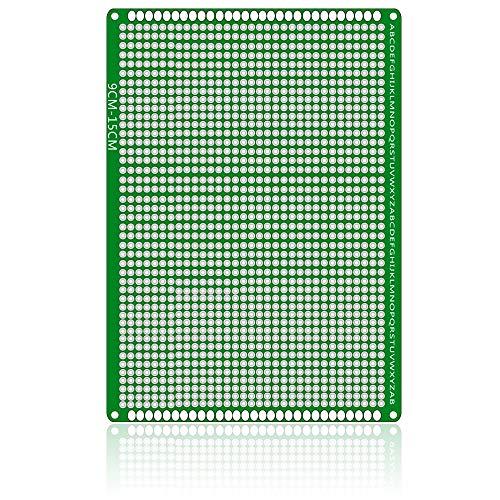 Un known Accesorios Electrónicos Doble Cara con Fibra de Vidrio PCB Placa de Pruebas for Arduino (15 x 9 cm) Accesorio