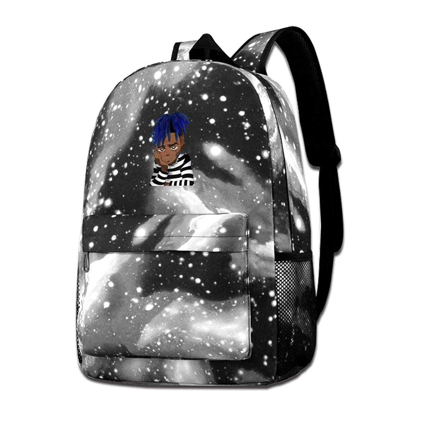 Rapper XXX-tentacion Art Galaxy Student Backpack, Durable CasualSchool Bookbag Shoulder Bag Laptop Backpack Rucksack Daypack 15.74 X 11 X 3.95inch