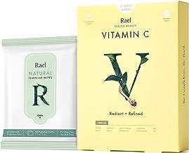 Rael Sheet Masks Value Packs - Natural Facial Masks with Brightening Vitamin C Extract, Natural pH Balanced Feminine Wipes...