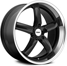 TSW STOWE Black Wheel with Painted Finish (19 x 9.5 inches /5 x 114 mm, 20 mm Offset)