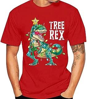 IZHH Christmas Tops Blouse Mens Short Sleeve T Shirt Round Neck Casual Tee Tunic