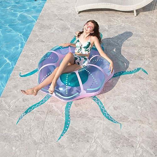 precios bajos MICOKY MICOKY MICOKY Inflable rojoondo Medusas Isla Flotante súper Anillo de natación Fila Flotante PVC Montar boya 122  121  40  grandes ahorros
