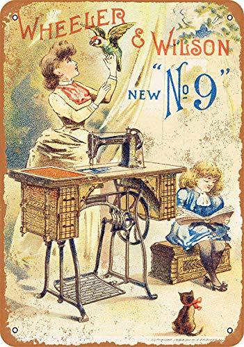 Bilingo 1888 Wheeler & Wilson naaimachines Vintage Metalen Tin Muurbord Plaque Poster Gepersonaliseerde Familie Straatbord 12 x 8 in