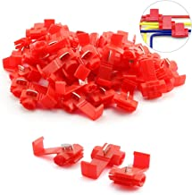 ZYAMY 50pcs Scotch Lock Quick Splice Wire Terminals Cold Pressed Insulated Snap Lock Electric Wire Crimp Connectors Cable Joiner Red for AWG 16-22