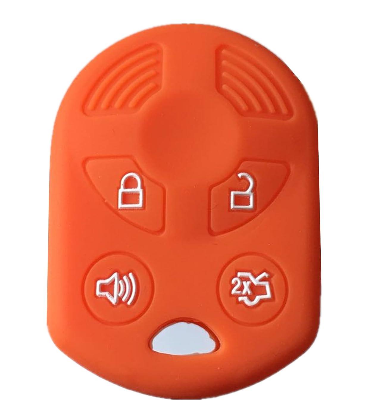 Rpkey Silicone Keyless Entry Remote Control Key Fob Cover Case protector For Ford Lincoln Mercury OUCD6000022 164-R8046 164-R7040 CWTWB1U722 (Orange)