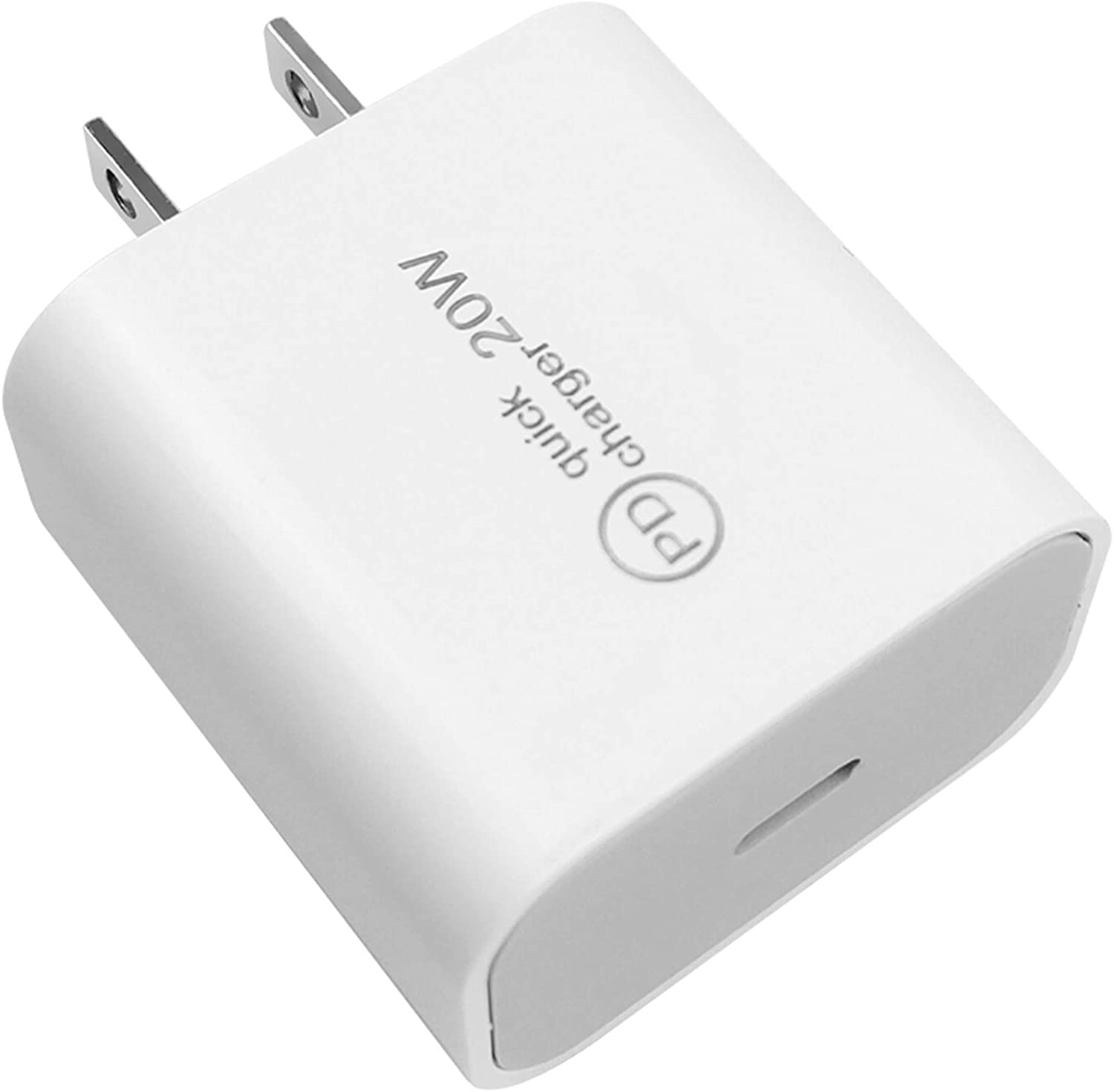 20W USB-C Power Adapter Fast Charging Wall Charger Power Delivery Type C PD3.0 QC3.0 Compatible for iPhone 13 Series 12 Mini Pro Max SE 11 Pro Max XR 8 Plus Pixel Samsung Galaxy S20/S10 LG
