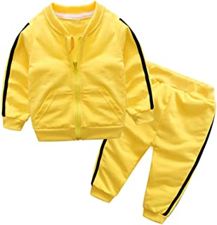 Moyikiss Studio Unisex Tracksuit Baby Boys Girls Clothes Cotton Long Sleeve Zipper Sweatshirt Jacket and Pants