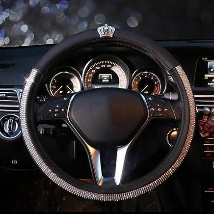 Caches de volant Pahajim Car Steering Wheel Cover Couvre Volant Cuir Housse de Volant de Voiture en Soie glacée Respirante antidérapante Durable Summer Universelle Auto et Moto Bleu