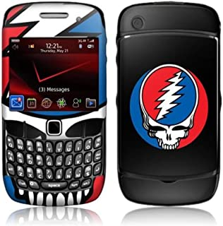 MusicSkins, MS-GRFL60044, Grateful Dead - Steal Your Face, BlackBerry Curve (8520/8530), Skin