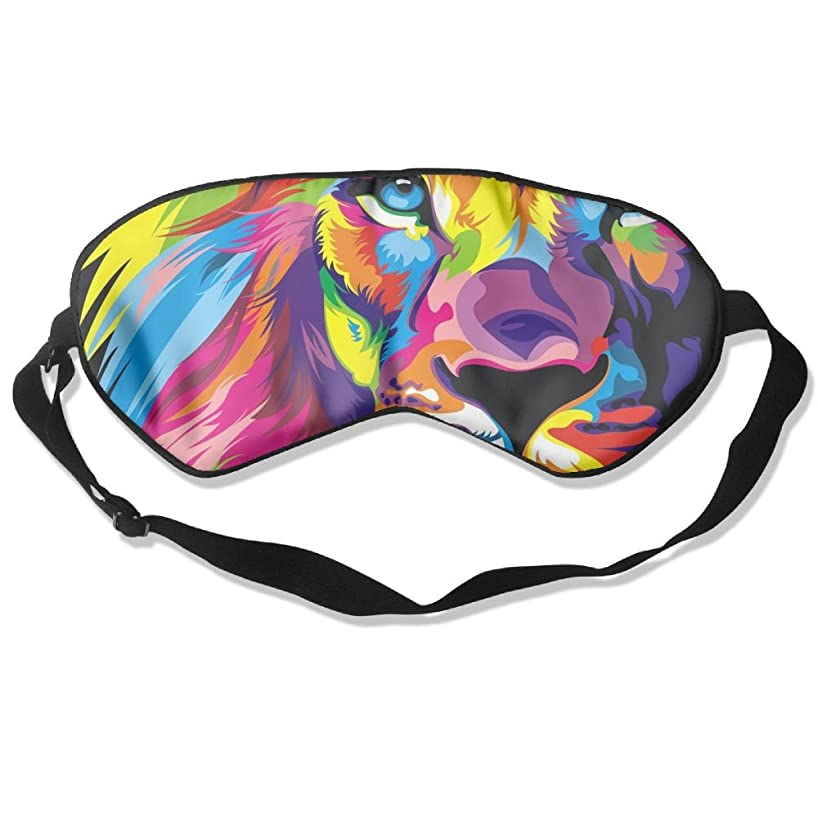 MB32 Sleep Mask Lion Colorful Face Eye Cover Blackout Eye Masks,Soothing Puffy Eyes,Dark Circles,Stress,Breathable Blindfold For Women Men