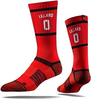 NBA Portland Trail Blazers Strideline Player Crew Socks , Damian Lillard , Damian Lillard
