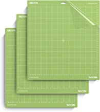 Nicapa StandardGrip Cutting Mat for Cricut Explore Air 2 Maker(12x12 inch,3 Pack) Standard Adhesive Sticky Green Quilting Cricket Cut Mats Replacement Accessories for Cricut