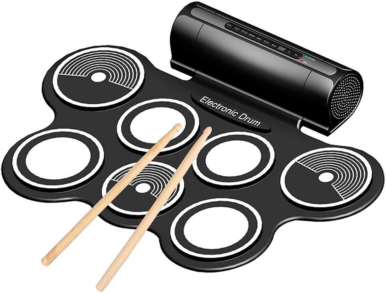 Kbabyokes E-Drum Kit Pedale Sounds Tragbar Elektronische Trommel Falten USB Trommel Schlaginstrument Doppelter Lautsprecher