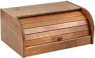 FGC Boîte à pain avec couvercle coulissant, boîte rectangulaire en bois avec volet porte-pain, biscuits et fûtes, pour tab...