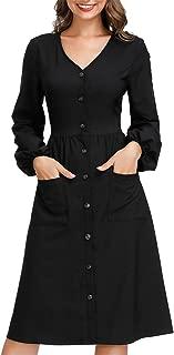 Best cotton button up dress Reviews