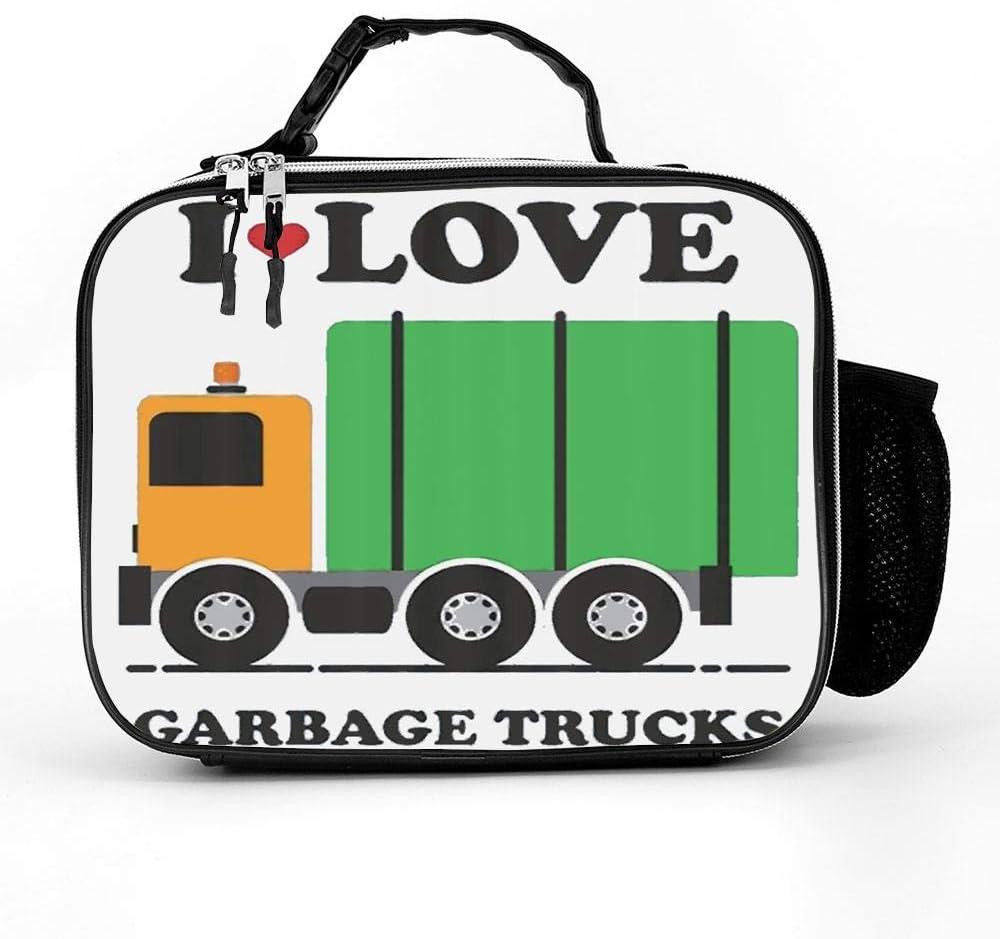 HOOSUNFlagrbfa Sale item I Heart Love Garbage Trucks Adult Lunch Child Ranking TOP16 Bag