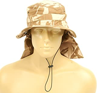 Original British Military Desert Booney Hat with Neck Protector 7.60 US (61cm)