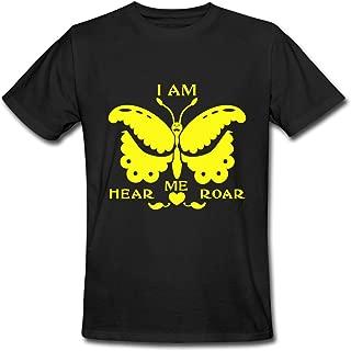 KingTS Personalize Hear Me Roar Men's T-Shirts Black XXL