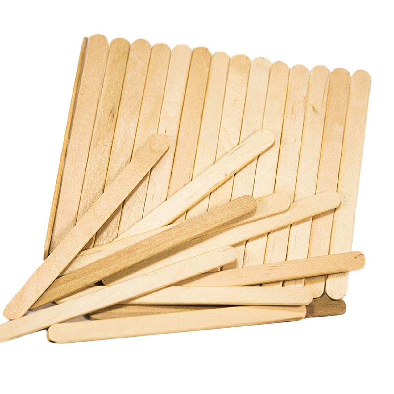 ZLYY 100 Pcs Craft Sticks Ice Cream Sticks Wooden Popsicle Sticks 4.5