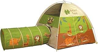 Pacific Play Tents 20435 Kids Safari Fun Dome Tent Crawl Tunnel Combo Indoor / Outdoor Fun