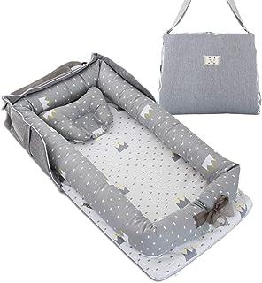 ベッドインベッド 添い寝 ベビーベッド 新生児 折りたたみ式 枕付き 持ち運び 携帯型ベビーベッド 出産祝い 通気性抜群 洗濯可能 0ヶ月~ 赤ちゃんとの添い寝に 寝返り制限 長く活用 安全 安心 ポータブル