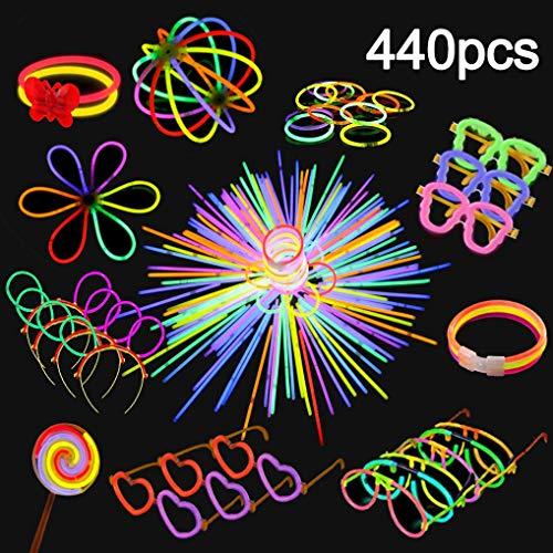 Yidaxing Knicklichter 200 Stücke Leuchtstäbe Armreifen Glowstick Partylichter 240 Anschlüssen Macht für Knicklichter Ketten, Dreifach Armbänder, Stirnband, Set für Brillen und Vieles Mehr