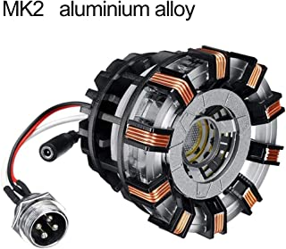 Glamsville DIY Ark Reactor Parts, Arc Reactor Toy Model Display Kit, USB Light Movie Props Action Figure Toy D