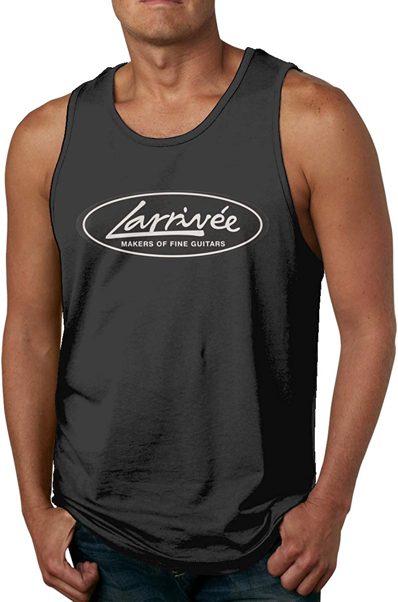 Anraglan Men Logo of Guitar Larrivee Running Sleeveless Tank Top T-Shirts