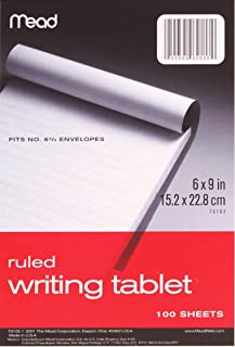 12 PACK OF Mead Plain Writing Tablet, 6 x 9 Inches, 100 Sheets (70104)