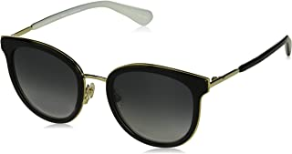 Kate Spade Women's 201122 Sunglasses, Color: Black White, Size: 52