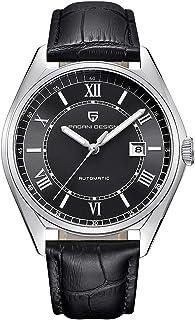 Pagani Design アリゲーターストラップ付き機械式時計ブラックメンズ腕時計高級ビジネス