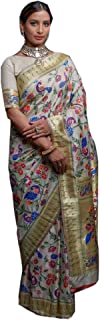 Indian Designer Pure Silk Weaving Paithani Saree Festival party Blouse Sari 6360