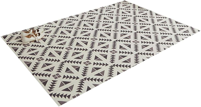 JIAJUAN Low-Profile Doormat Floor Dirt Trapper Mats Indoor Waterproof Oil-Proof for Kitchen Doorway, 2mm, 5 Styles (color   E, Size   135x150cm)