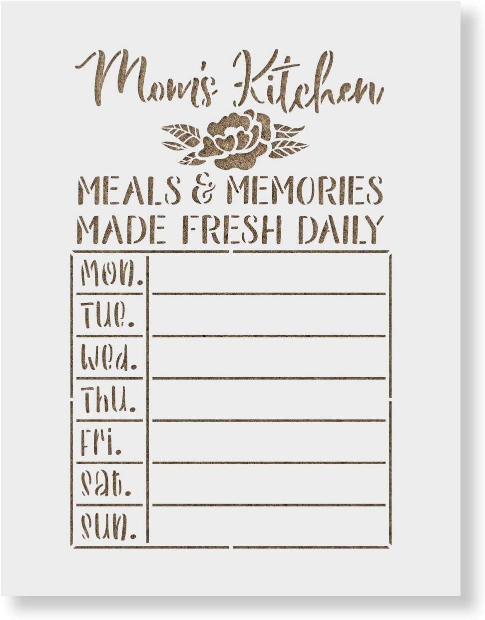 Moms Kitchen Meals Calendar Stencil Pain Reusable Ranking TOP17 outlet for - Stencils
