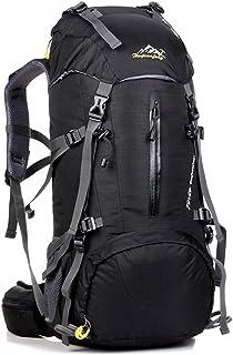 UMEICOOL 50L Impermeable Senderismo Mochila de Gran Capacidad Montañismo Daypack Deporte Al Aire Libre para Viaje Acampar Deporte Senderismo Camping Pesca Esquí (negro)
