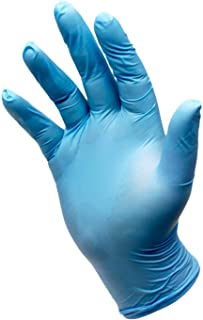 Nitrile Exam Gloves - Powder Free, Non-Sterile, Disposable,Food Safe,Indigo Color, Convenient Dispenser Pack of 100 Gloves of Small