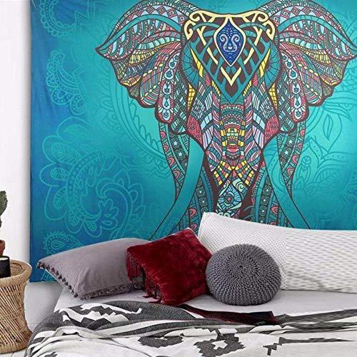 Tapices Bohemio Toalla Gigante Playa Tapiz De Elefante Acuarela Mandala Indio Tapiz Hippie Psicodélico Tapestry Decoración De Pared para Dormitorio Sala De Estar 200X150Cm