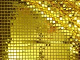 ab 1m: Pailletten Stoff, gold, 94cm breit