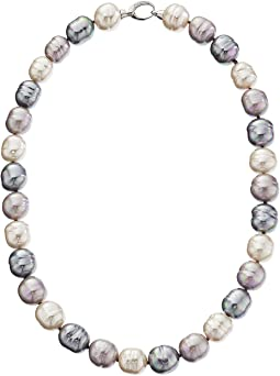 Majorica - 14mm Baroque SS Necklace