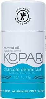 Kopari Aluminum-Free Charcoal Deodorant | Non-Toxic, Paraben Free, Gluten Free & Cruelty Free Men's and Women's Deodorant | Driftwood Scented Made with Organic Coconut Oil and Charcoal | 2.0 oz