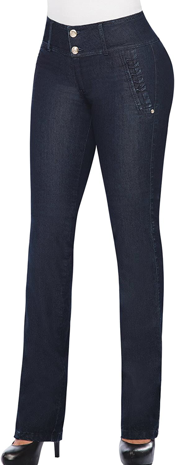 Equilibrium 100% Colombian Boot Cut Jean for women Midrise stretch Jean J8616